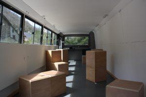 L'espace intérieur Le Bus - espace culturel mobile